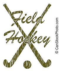 field hockey sport concept vector illustration isolated on...
