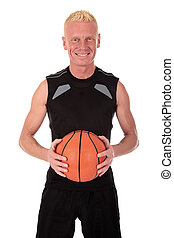 Mid forties basketball player - mid forties blond male...