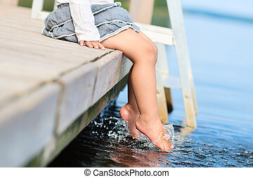 Legs in water