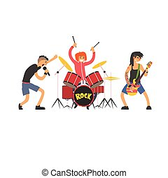 Rock Band Vector Illustration