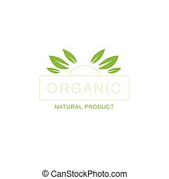 Leaf Crown Organic Product Logo Cool Flat Vector Design...
