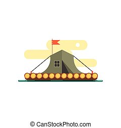 Tent On The Raft Water