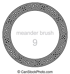ancient meander pattern round