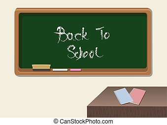 Back to School Classroom Vector Illustration - Vector...