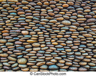 Colorful of Flat Stone Wall