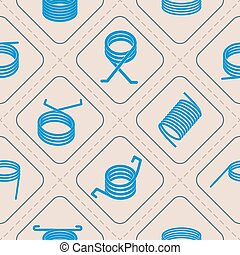 Seamless background with Springs - Seamless background with...