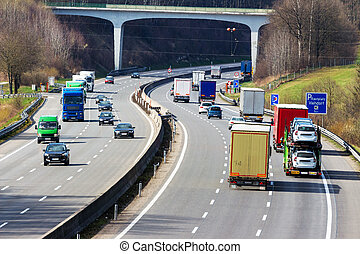 truck on highway - truck on the highway. road transport for...