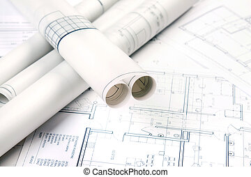 Architecture Concept - Architecture tools on blueprints