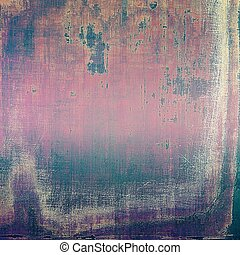 Grunge texture, aged or old style background with retro design elements and different color patterns: brown; gray; purple (violet); pink; black