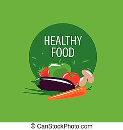 vector logo healthy eating - Logo pattern of healthy eating...