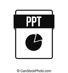 PPT file icon, simple style - PPT file icon in simple style...