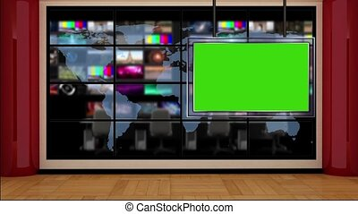 News TV Studio Set -50 - News TV Studio Set 50 - Virtual...