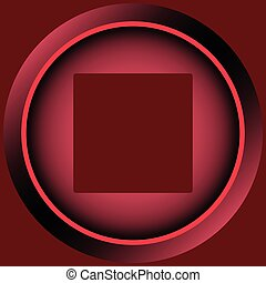 Icon red stop symbol - Icon with the button of a stop of...
