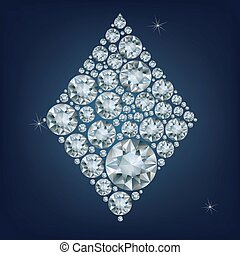 Casino poker Ace card made a lot of diamonds