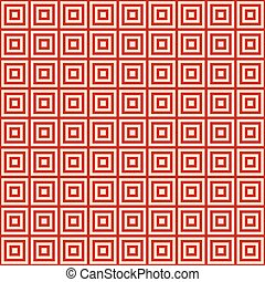 red background endless east pattern