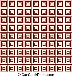 yellow square on a bordo background endless east pattern