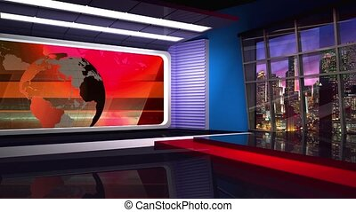 News TV Studio Set -45 - News TV Studio Set 45 - Virtual...