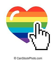 Gay symbol - rainbow heart
