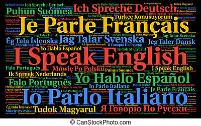 I speak a language word cloud concept