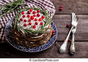 hepatic pie - the hepatic pie decorated with berries and...