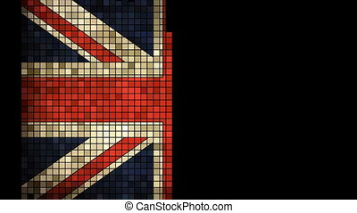 British flag with effects - United Kingdom flag font with...