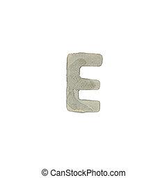 el, e, carta, cemento, textura,