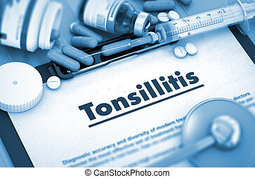 Tonsillitis Diagnosis Medical Concept - Diagnosis -...