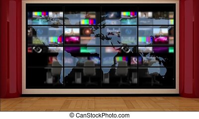News TV Studio Set- 51 - News TV Studio Set 51 - Virtual...
