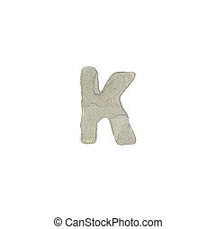 el, K, carta, cemento, textura,