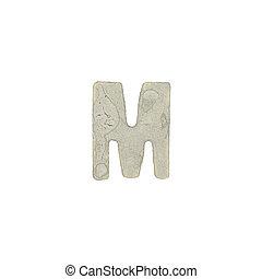 carta,  M, cemento, textura