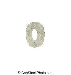 el, O, carta, cemento, textura,