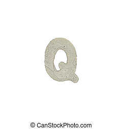 Q, carta, cemento, textura