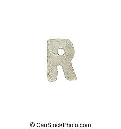 el, R, carta, cemento, textura,
