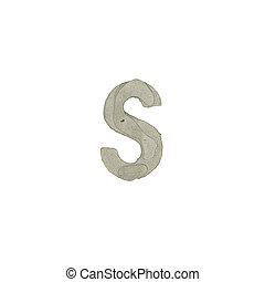 el, S, carta, cemento, textura,