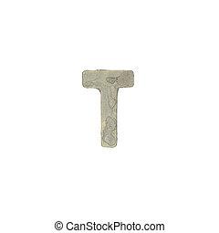 el, T, carta, cemento, textura,