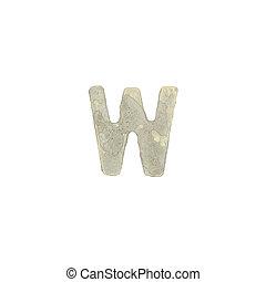 el, W, carta, cemento, textura,