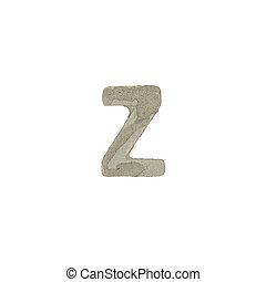 el, Z, carta, cemento, textura,
