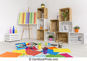 Imagination has no limits - Shot of a modern room with...