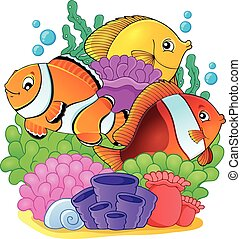 Coral reef fish theme image 6 - eps10 vector illustration