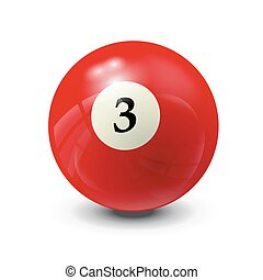 billiard ball 3- realistic vector design