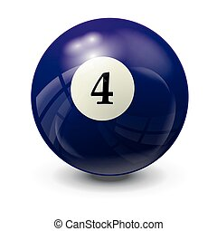 billiard ball 4- realistic vector design
