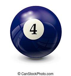 billiard ball 4- realistic vector design