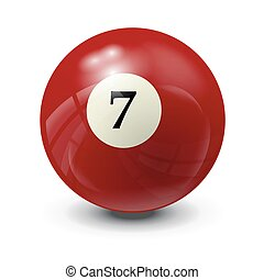 billiard ball 7- realistic vector design