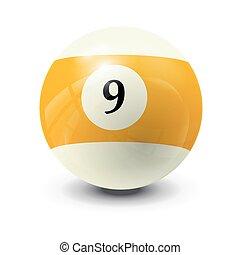 billiard ball 9- realistic vector design