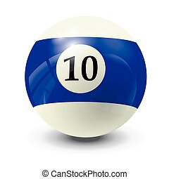 billiard ball 10- realistic vector design