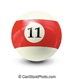 billiard ball 11- realistic vector design