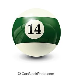 billiard ball 14- realistic vector design