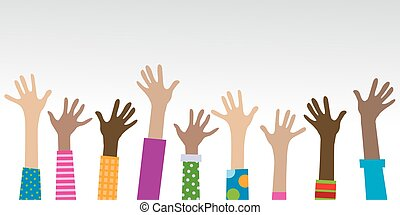 hands diverse togetherness background