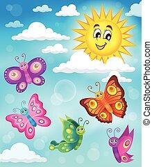 Happy butterflies theme image 5 - eps10 vector illustration.