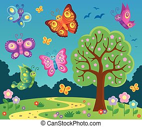 Happy butterflies theme image 6 - eps10 vector illustration